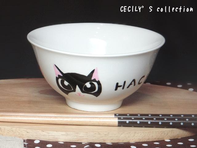 オーダー猫茶碗顔デザイン【名入れ】選べるカラー2