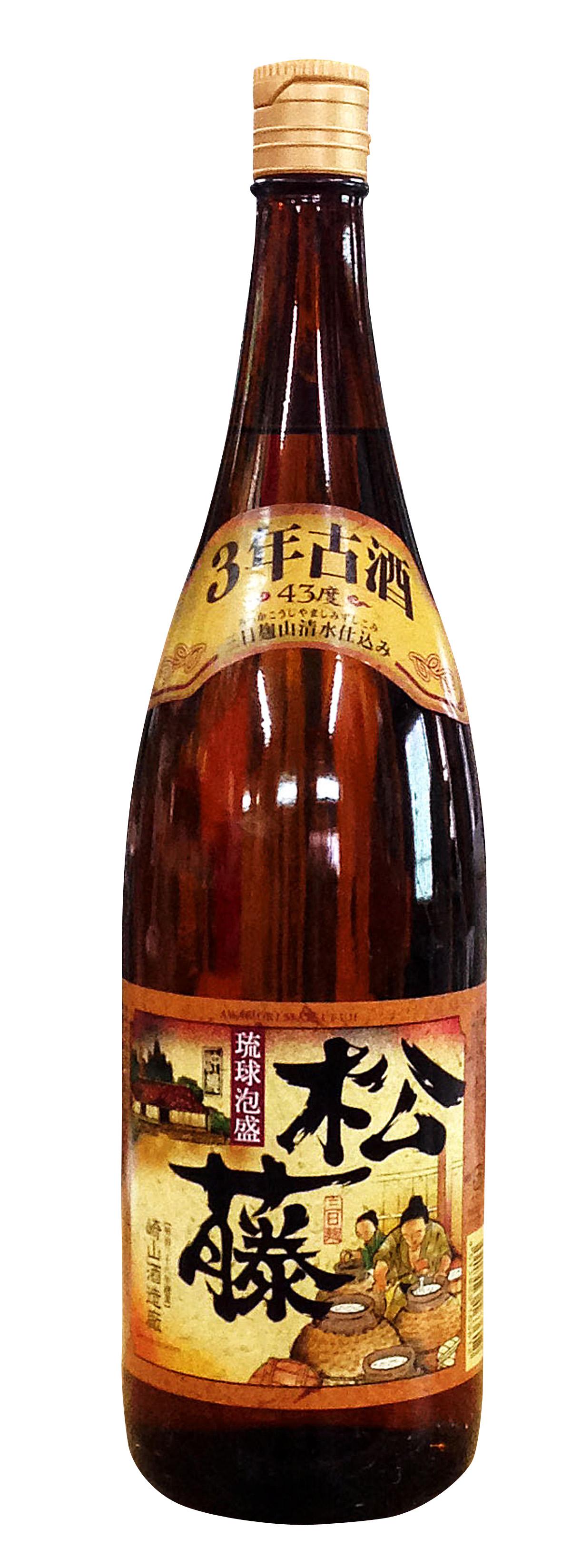 松藤 3年古酒 一升瓶 (1800ml)