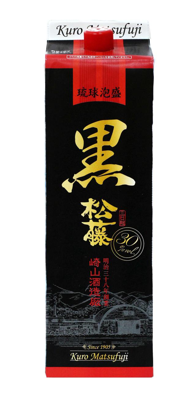 黒の松藤 紙パック (1800ml)