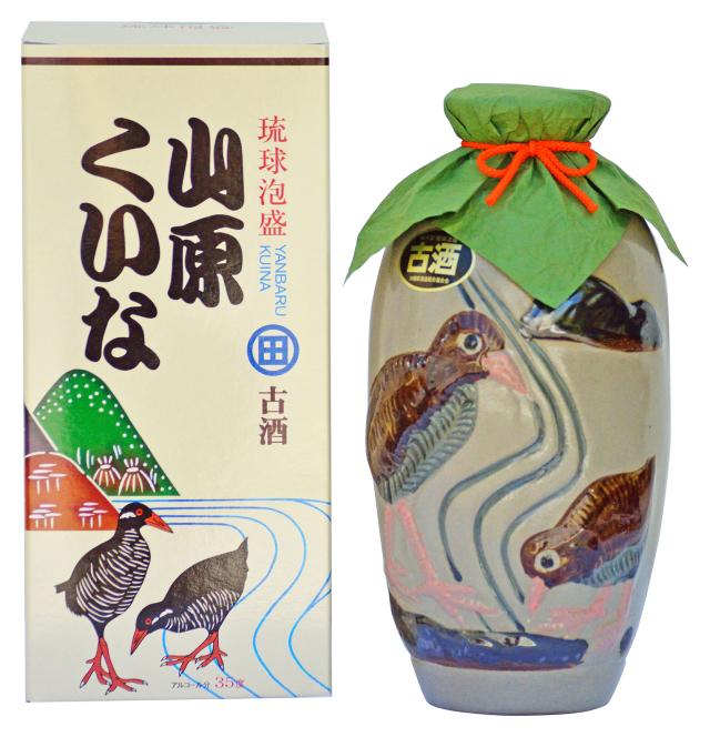 琉球泡盛 やんばるくいな 古酒 (5合壺) 35度 900ml