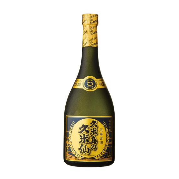 久米島の久米仙 ブラック 5年古酒 40度 720ml