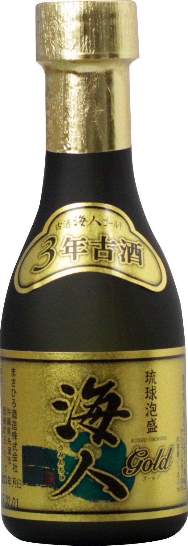 海人ゴールド3年古酒 30度 180ml
