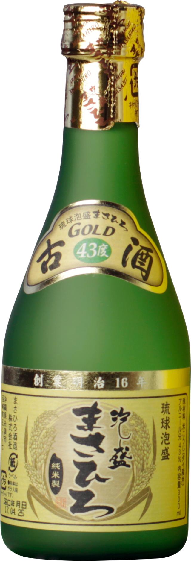 まさひろゴールド 古酒 43度 300ml