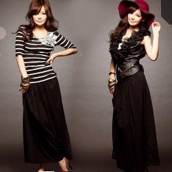 ブラック・シンプルロングスカート