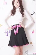 ピンクレース魅せ☆ブラックスカート