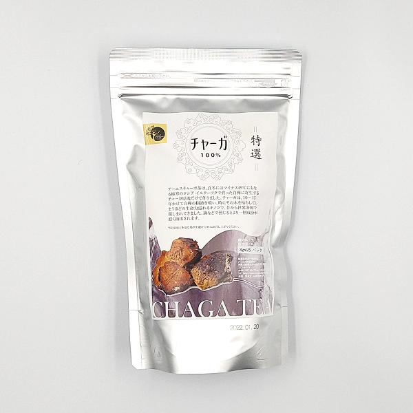 厳選された最高品質の天然チャーガ100% 【チャーガ茶】3g×25袋