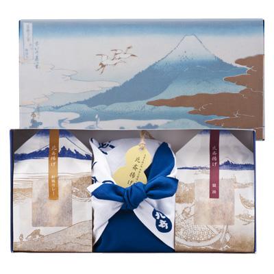 北斎揚げ 冨嶽化粧箱詰合せ 藍地形染つつみ 光琳雪ノ下
