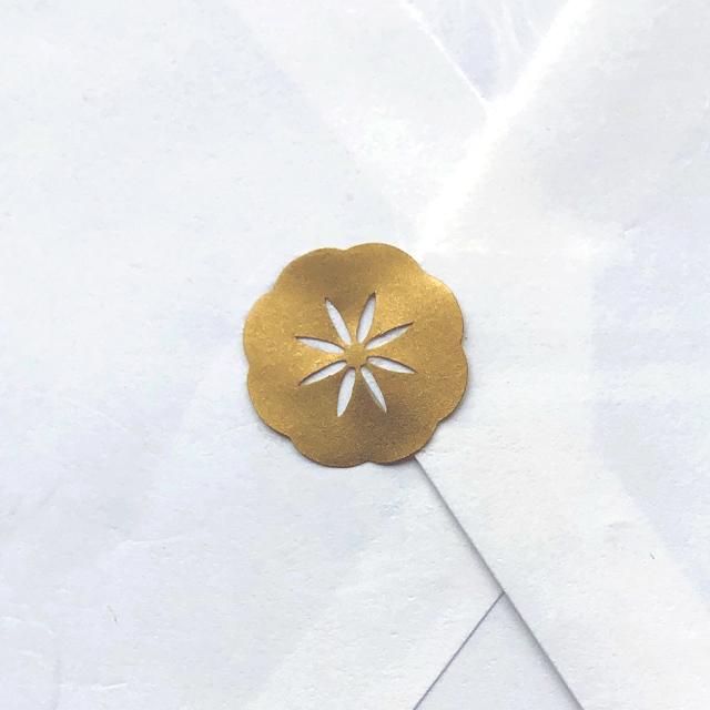 封かんシール「花」