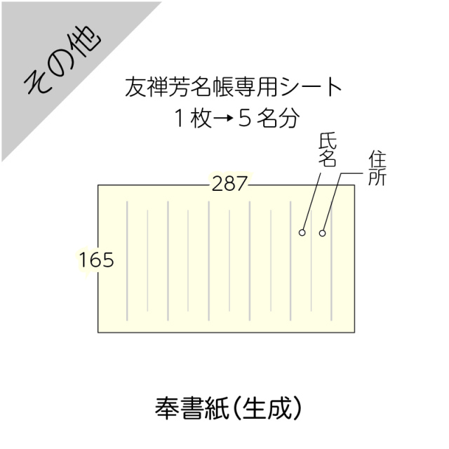 芳名帳中紙(追加)