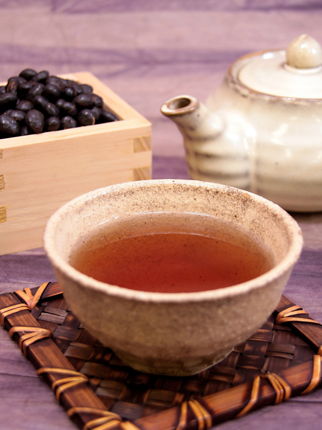 そのまま食べられる黒豆茶