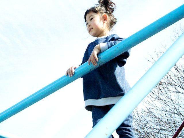 【2017秋冬】munch!【マンチ】デニムBIGトレーナー (90~130/3サイズ)171-2062〈リンクコーデ(お揃い)可能〉
