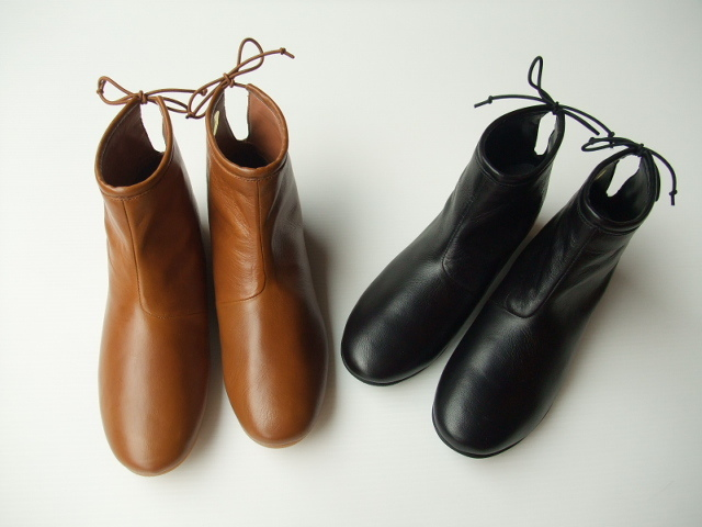 minon polku Back Tie boots goat leather バックタイ ブーツ