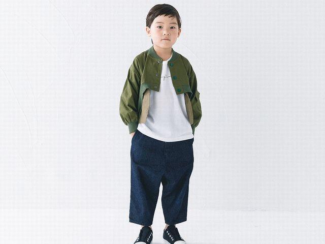 【2019春夏】nunuforme【ヌヌフォルム】フロント ショート ブルゾン(95~145/4サイズ)nf11-105-005