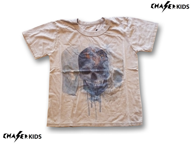 CHASER KIDS  WATERCOLOR SKULL Tシャツ