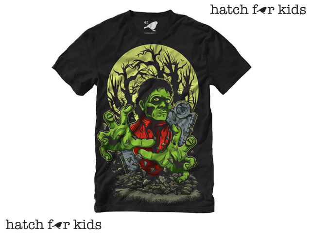 Hatch For Kids  THRILLER Tシャツ【HATCH FOR KIDS スリラー MICHAEL JACKSON マイケル・ジャクソン 子供服】