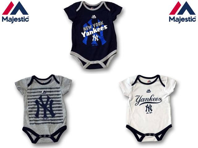 MAJESTIC NY YANKEES ロンパース 【MAJESTIC マジェスティック MLB ヤンキース】