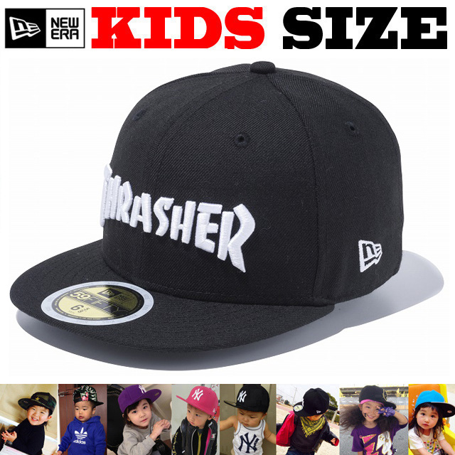 NEW ERA KIDS 59FIFTY THRASHER LOGO CAP 【newera ニューエラ キッズサイズ キッズダンス衣装 帽子 キッズ キャップ 】