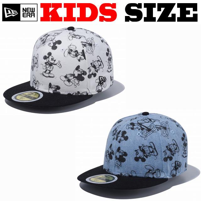 NEW ERA KIDS 59FIFTY DISNEY HAND DRAWN PRINT CAP 【newera ニューエラ キッズサイズ キッズダンス衣装 帽子 キッズ キャップ 】