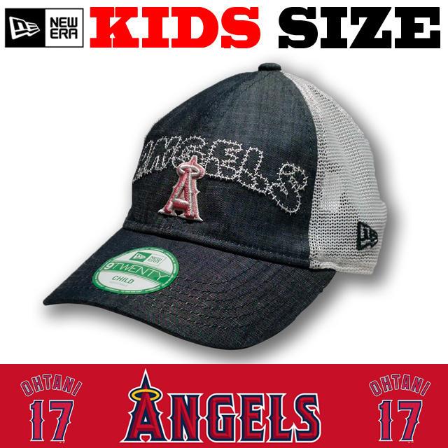 ニューエラのキッズサイズモデル! NEW ERA KIDS 9TWENTY メッシュ ANGELS CAP 【ニューエラ キッズ newera baby ベビー キッズサイズ キャップ】