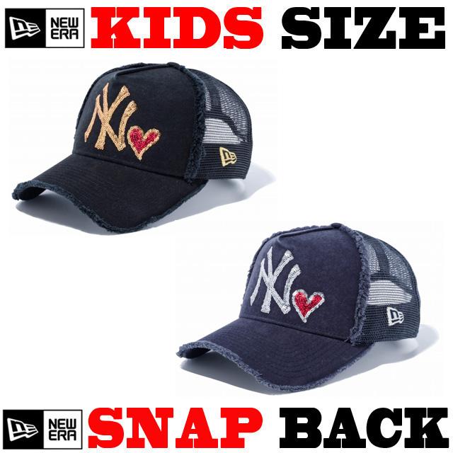 ニューエラのキッズサイズモデル! NEW ERA KIDS 9FORTY スパンコール CAP 【ニューエラ キッズサイズ newera baby キッズサイズ メッシュキャップ】