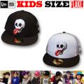 FLAKE NEW ERA KIDS 59FIFTYMAD SKULL メッシュ CAP 【フレイク ニューエラ キッズサイズ キッズダンス衣装】