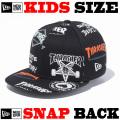 NEW ERA KIDS YOUTH 9FIFTY THRASHER LOGO ALLOVER SNAPBACK CAP 【newera ニューエラ キッズサイズ キッズダンス衣装 帽子 キッズ キャップ 】