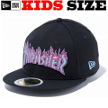 NEW ERA KIDS 59FIFTY THRASHER FIRE LOGO CAP 【newera ニューエラ キッズサイズ キッズダンス衣装 帽子 キッズ キャップ 】