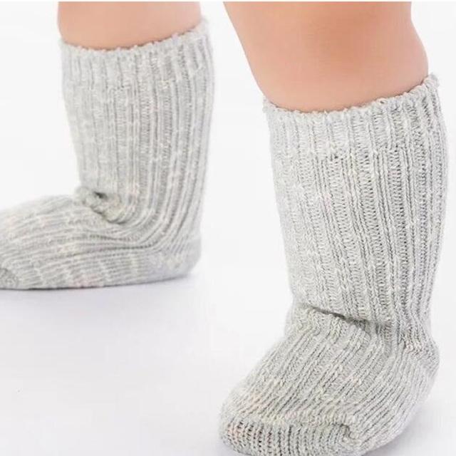 シンプルベビーソックス【grey】グレー/靴下/男の子/女の子