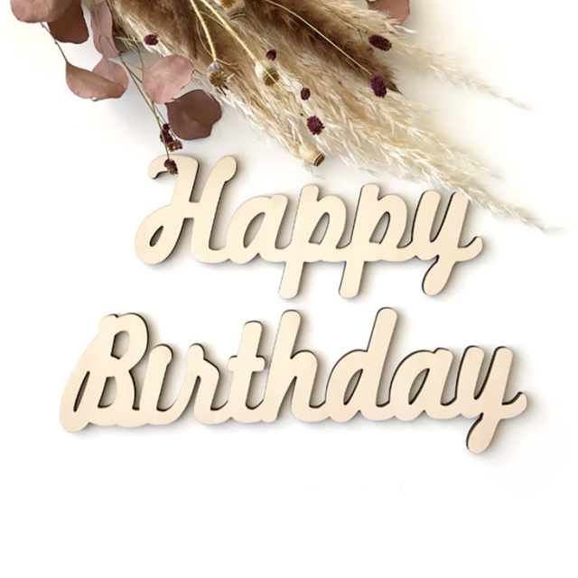 木製レターバナー【HappyBirthday】誕生日/飾り付け/背景/写真背景/壁飾り/オーナメント