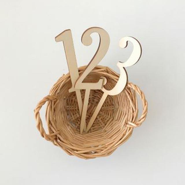 木製ケーキトッパーナンバー【1-3・星】誕生日/飾り付け/オーナメント/デコレーション/星/数字/cake