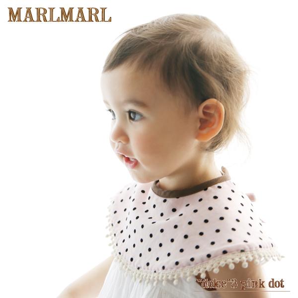 マールマールドルチェシリーズ1枚入り【dolce 3 pink dot】MARLMARL/スタイ/ビブ/出産祝い/女の子/クロネコDM便(メール便)対応可