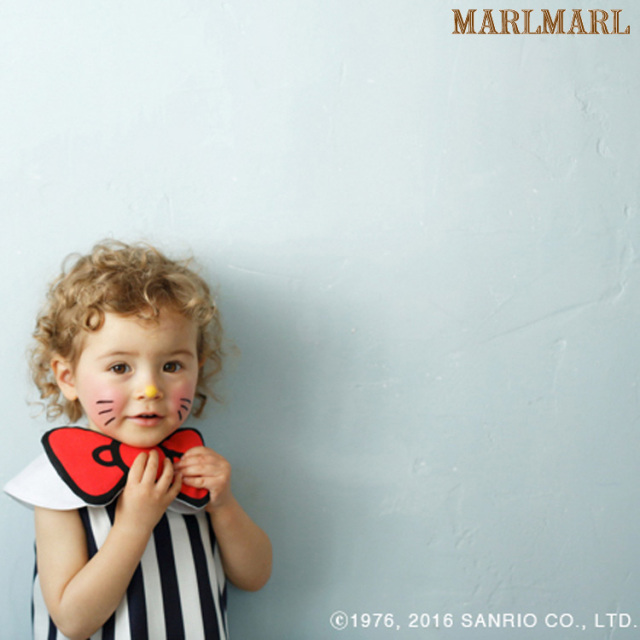 マールマールハローキティ【big ribbon】HelloKitty/スタイ/出産祝い/女の子/MARLMARL/クロネコDM便(メール便)対応可