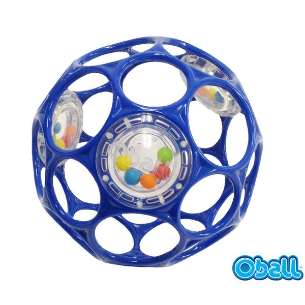 [おむつバスケットオプション]オーボールラトル(OballRattle)【Blue/Pink】10cm/追加アイテム/赤ちゃん/おもちゃ