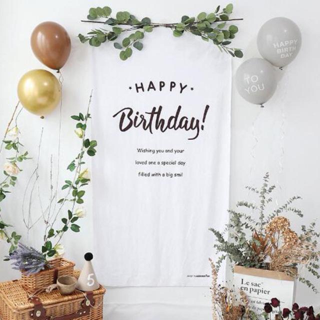 バースデータペストリー【HappyBirthday】誕生日/背景/写真背景/壁飾り