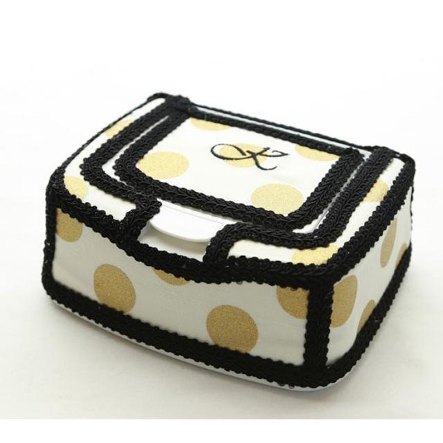 [出産祝い]〔GOLD DOT〕おしりふきケース単品【1color】手口拭きケース/ワイプケース/プレゼント