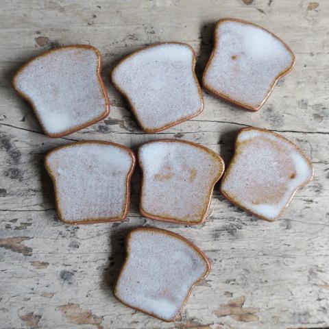 【陶器】 箸置き 食パン/グレー