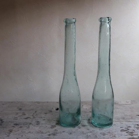 【Vintage/ヴィンテージ】ガラス瓶/フラワーベース A(右)