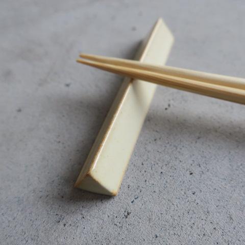 【美濃焼】 箸置き/三角 クリーム