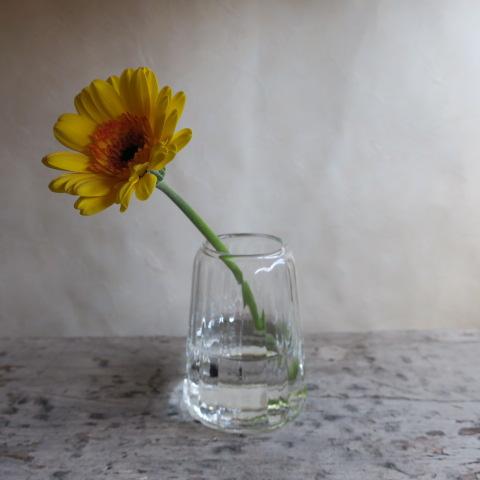 【リューズガラス】フラワーベース/クレーライン カヌレット