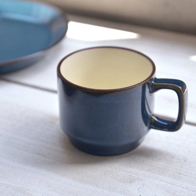 【美濃焼】ブルー スタッキングマグカップ
