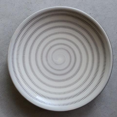 【小石原焼】上鶴窯 / 6寸皿 飛びカンナ