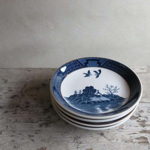 【Vintage/ヴィンテージ】NIKKO山水 ミニプレート/4枚セット