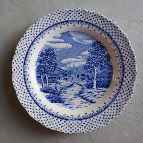 【Vintage/ヴィンテージ】NIKKO ケーキプレート/ライトブルー