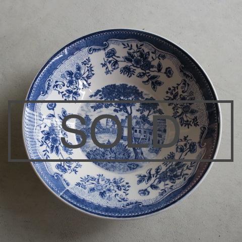 【Vintage/ヴィンテージ】Blue&White ボウル L