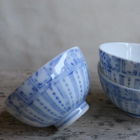 【Vintage/ヴィンテージ】印判/縞文様 湯のみ3個セット