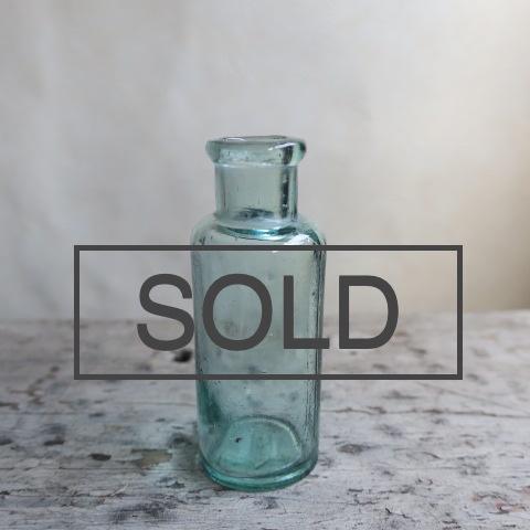 【Vintage/ヴィンテージ】ガラス瓶ミニ/フラワーベース グリーン
