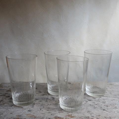 【Vintage/ヴィンテージ】カットガラス/グラス4個セット