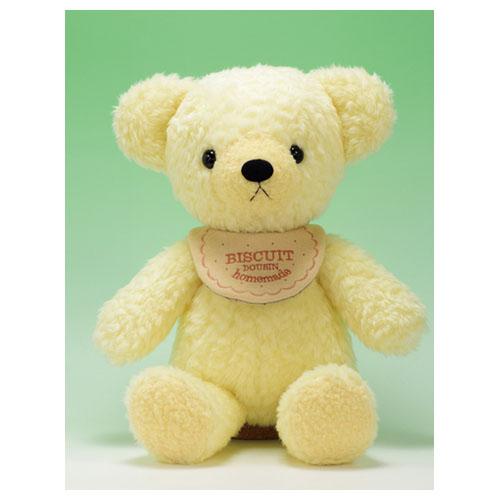 童心 日本製オリジナル くまのぬいぐるみ フカフカシリーズ クマのフカフカ Lサイズ クリーム(ハンドメイド)