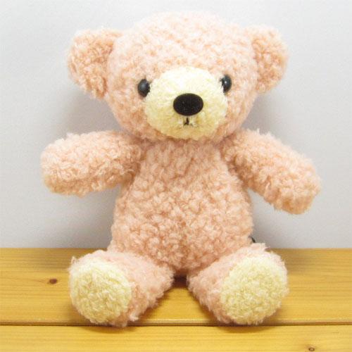 童心 日本製オリジナル くまのぬいぐるみ フカフカシリーズ クマのフカフカ Sサイズ NEWローズ