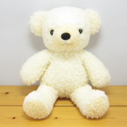 童心 日本製オリジナル くまのぬいぐるみ フカフカシリーズ クマのフカフカNEW Mサイズ クリーム